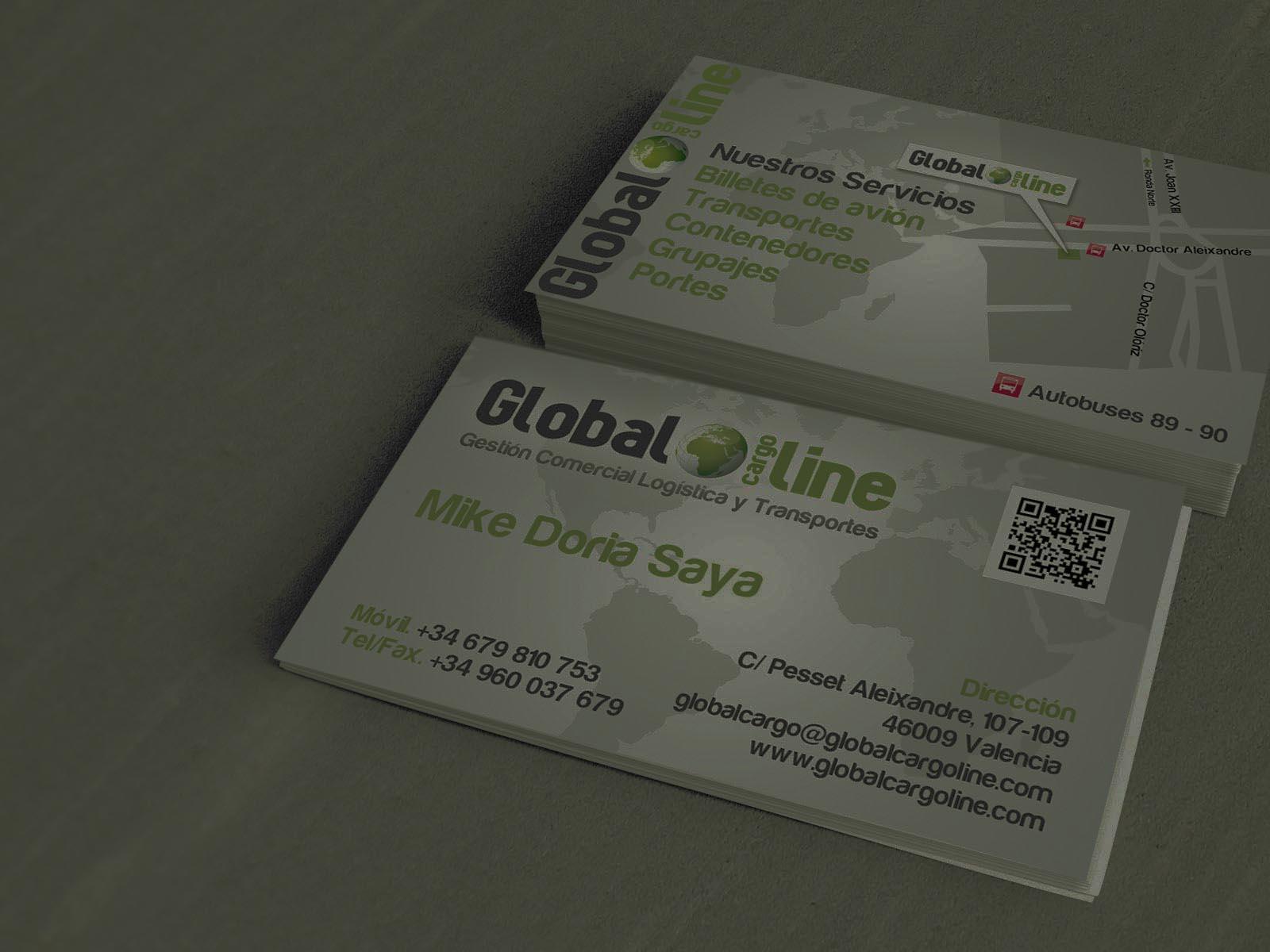 GLOBAL CARGO LINE TARJETAS DE VISITA