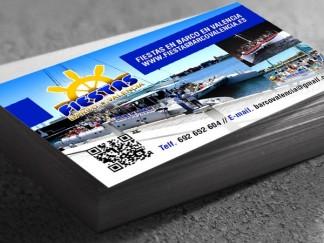 tarjetas de visita fiestas barco valencia