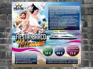 Cartel Fiestas Barco Valencia