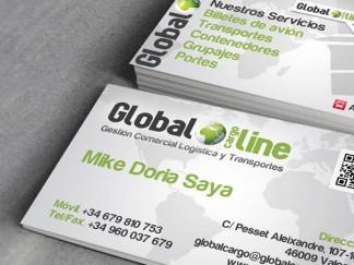 Tarjetas de visita Globa Cargo Line