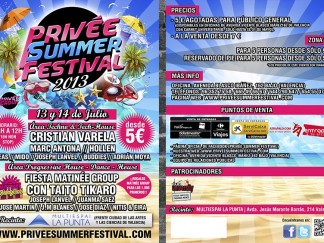 Flyer privee summer festival