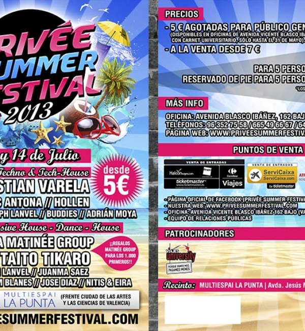PRIVÉE SUMMER FESTIVAL