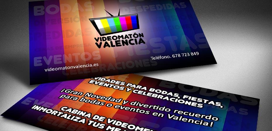 Videomaton Valencia Tarjetas de visita