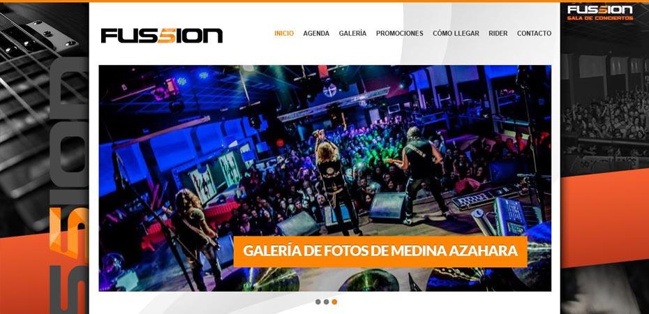 PAGINA WEB PARA SALA FUSSION VALENCIA