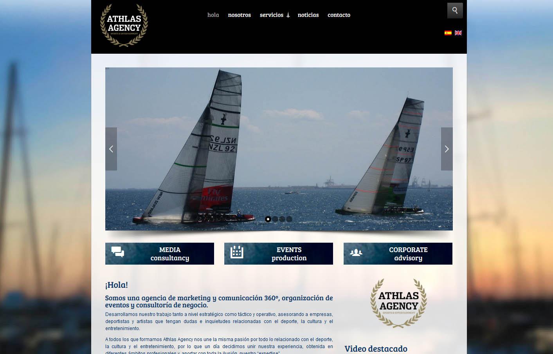 página web para athlas agency valencia