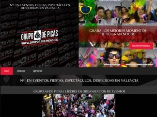Diseño de página web para Grupo As de Picas