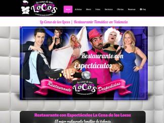diseño web para el restaurante la cena de los locos