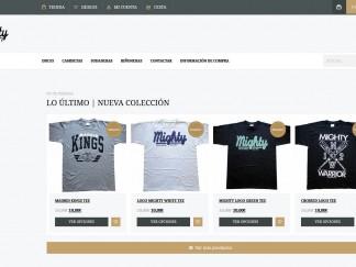 Página web Tienda de ropa on-line Mighty Warrior