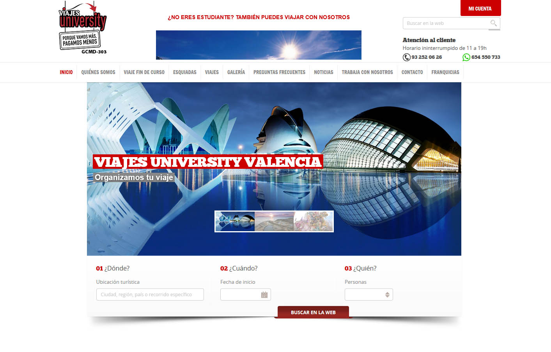 Diseño de tienda on-line Viajes University