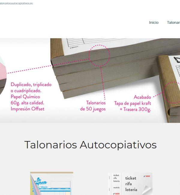 TALONARIOS AUTOCOPIATIVOS